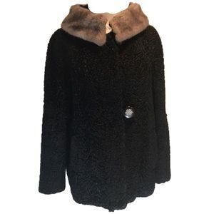 """VINTAGE "" Black Short Persian Lambswool Jacket."